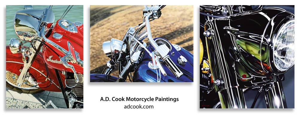 A.D. Cook Motorcycle Paintings