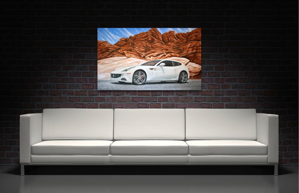 Fast Forward - Ferrari painting by A.D. Cook, Las Vegas, NV