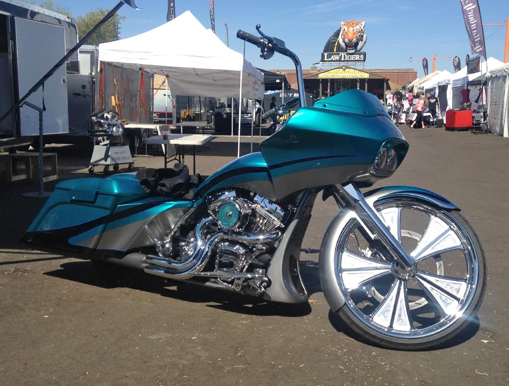 MRI Bagger at AZ Bike Week 2014, Cave Creek, AZ