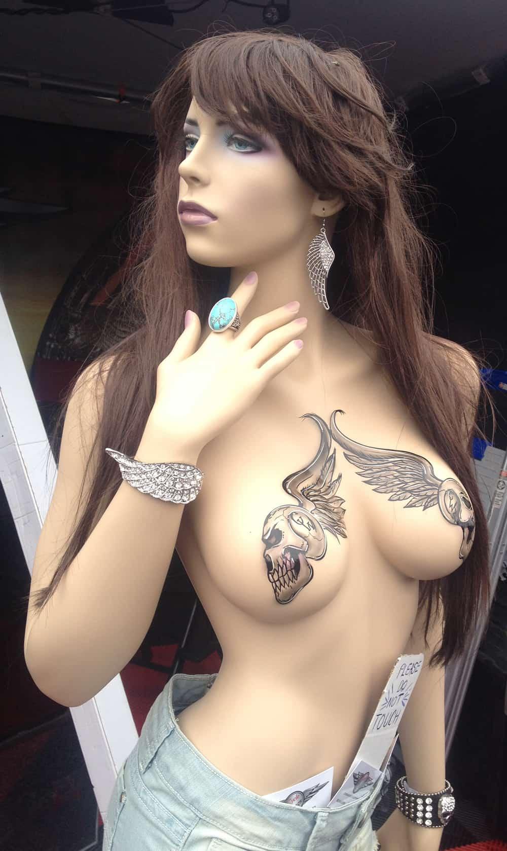 Mannequin Babe at Bike Week 2014