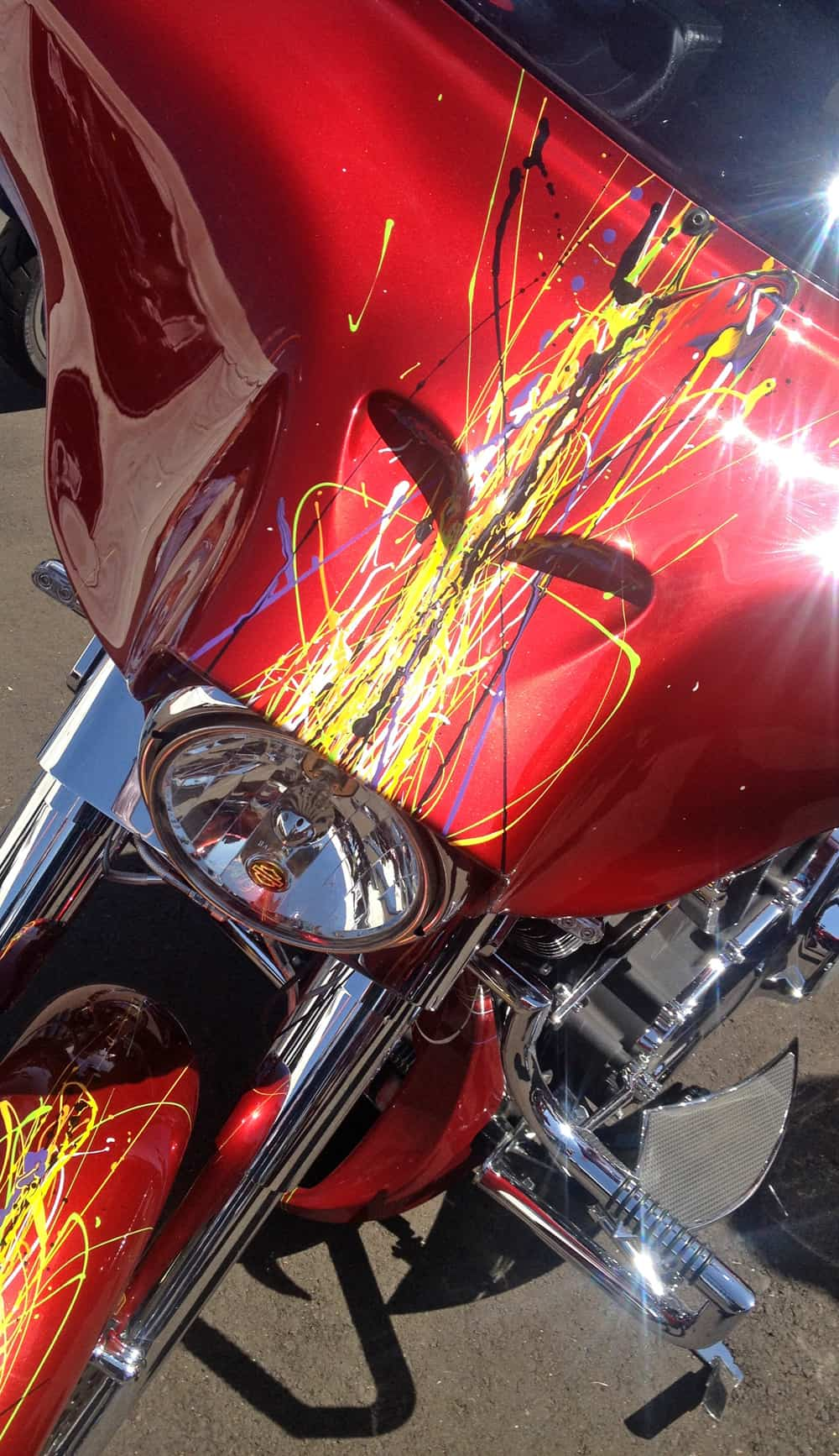 Mark Brodie Splatter Paint at AZ Bike Week 2014, Cave Creek, AZ