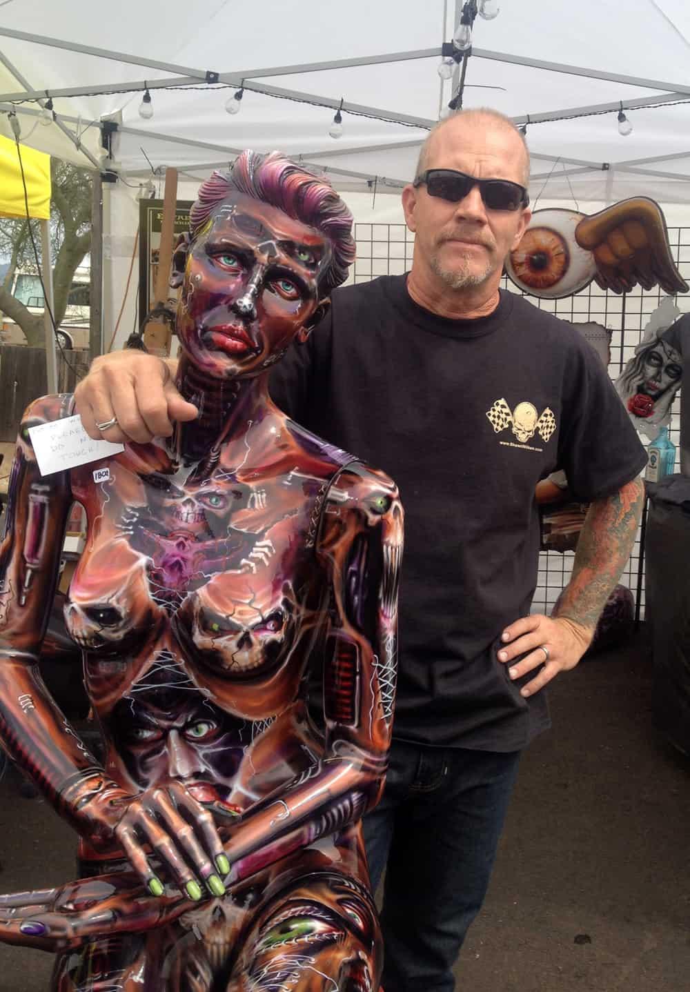 Shawn Wilken at AZ Bike Week 2014, Cave Creek, AZ