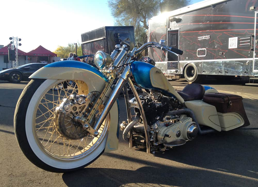 Western-style bagger at AZ Bike Week 2014, Cave Creek, AZ