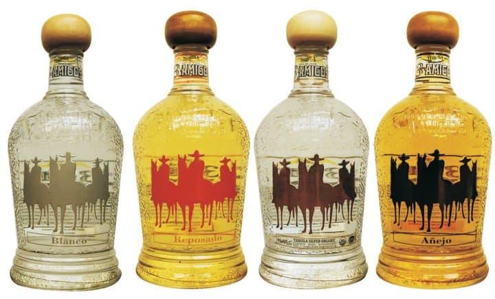 3 Amigos Tequila bottles