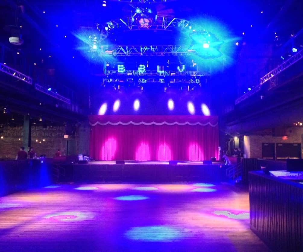 The Brooklyn Bowl Stage, Las Vegas, NV.