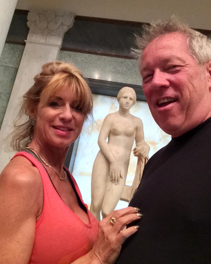 Beti and A.D. Cook at the Getty Villa, Valentines Day, 2015