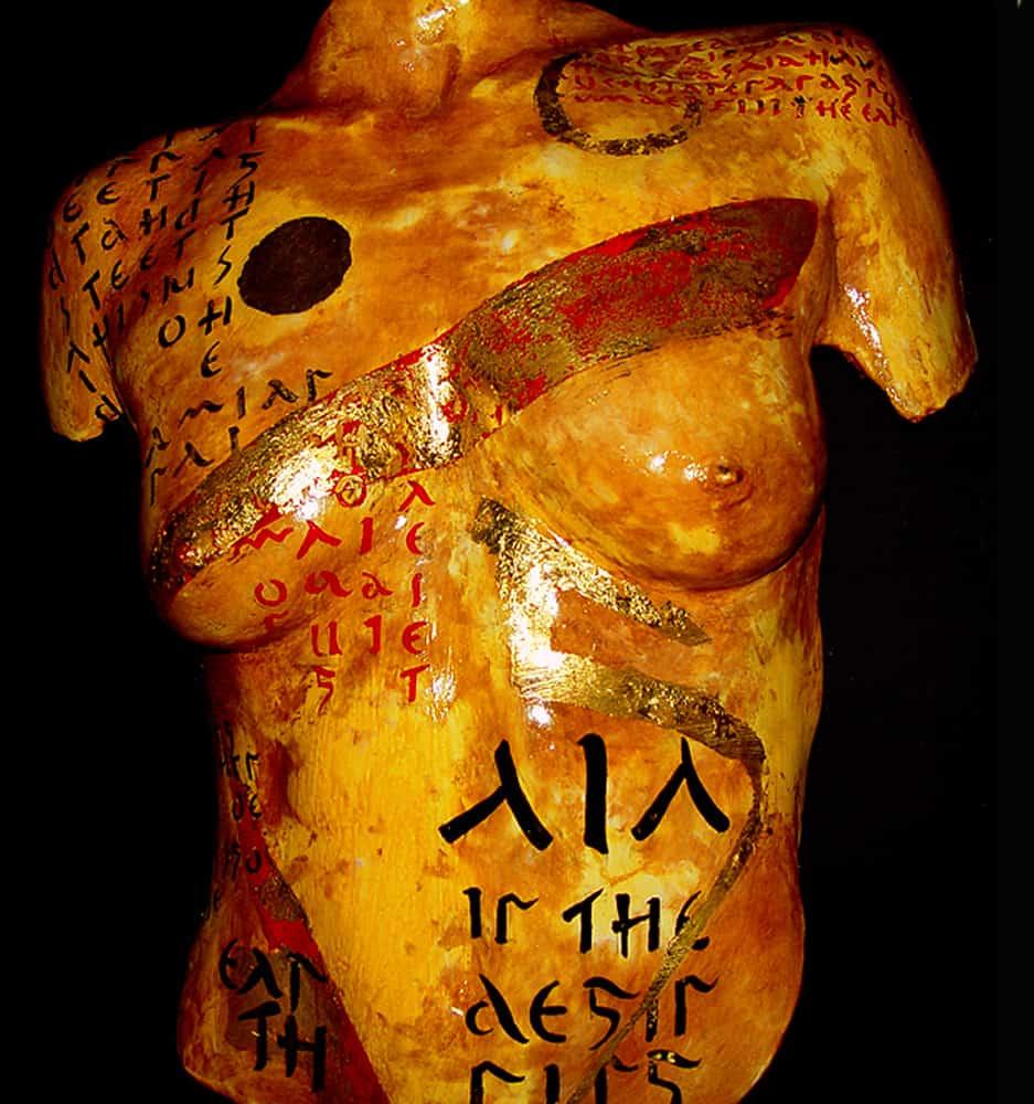 Gala mixed media sculpture by Beti Kristof-Mohn, Artist, Las Vegas, NV