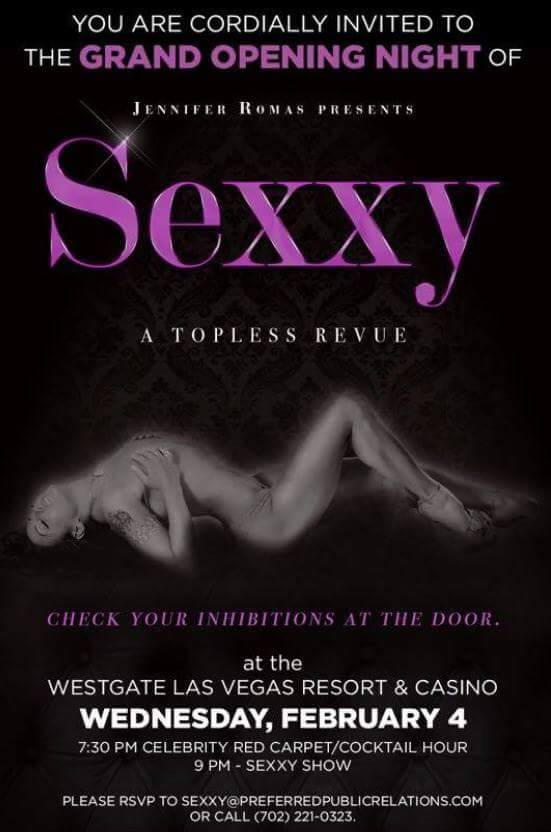 Sexxy Topless Review Grand Opening, Westgate Casino, Las Vegas, NV