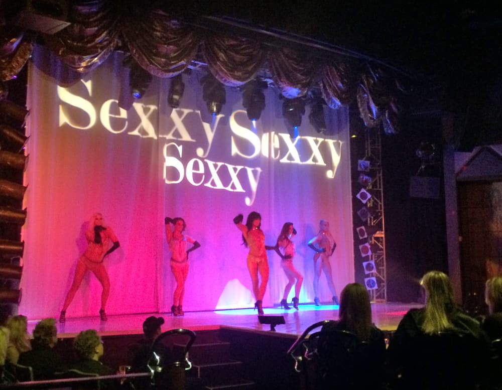 Sexxy Sexxy Sexxie Girls on Stage - The Sexxy Show Las Vegas
