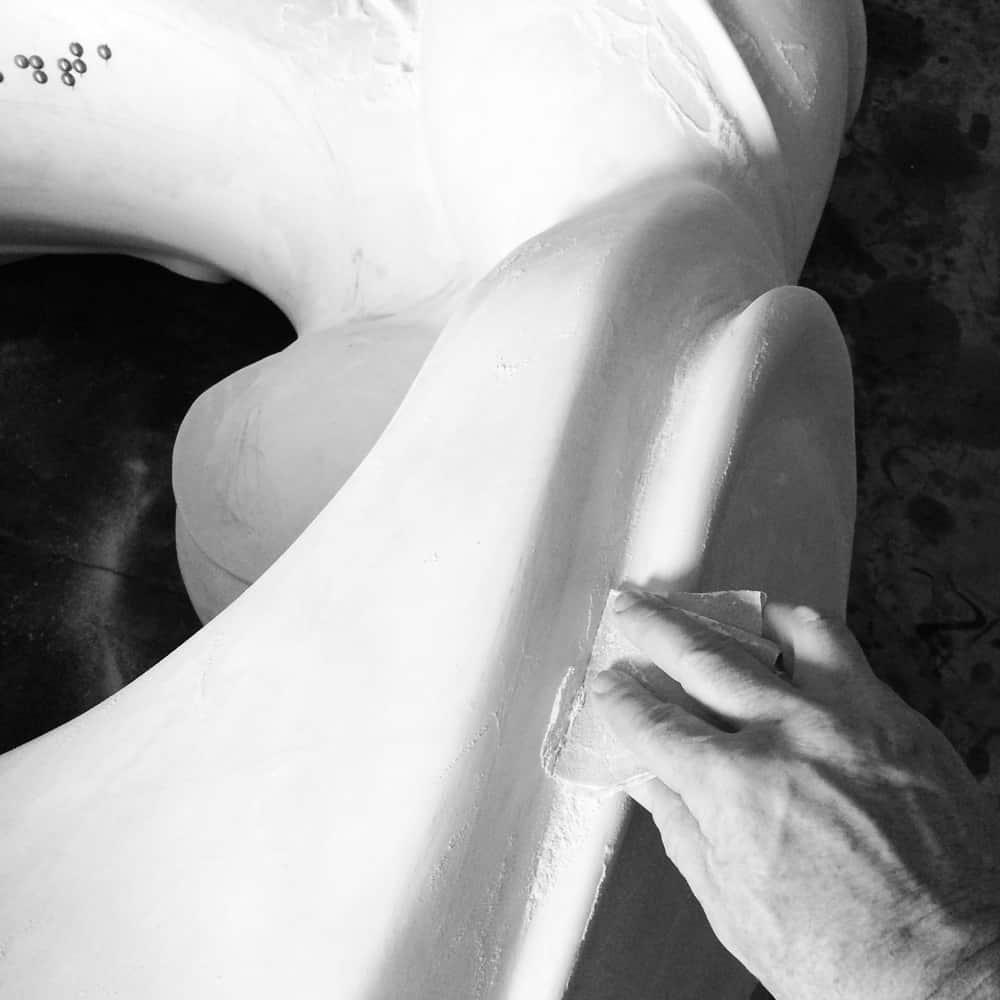 St. Jude Sculpture - WIP, A.D. Cook, Artist, A.D. Cook, Las Vegas, NV