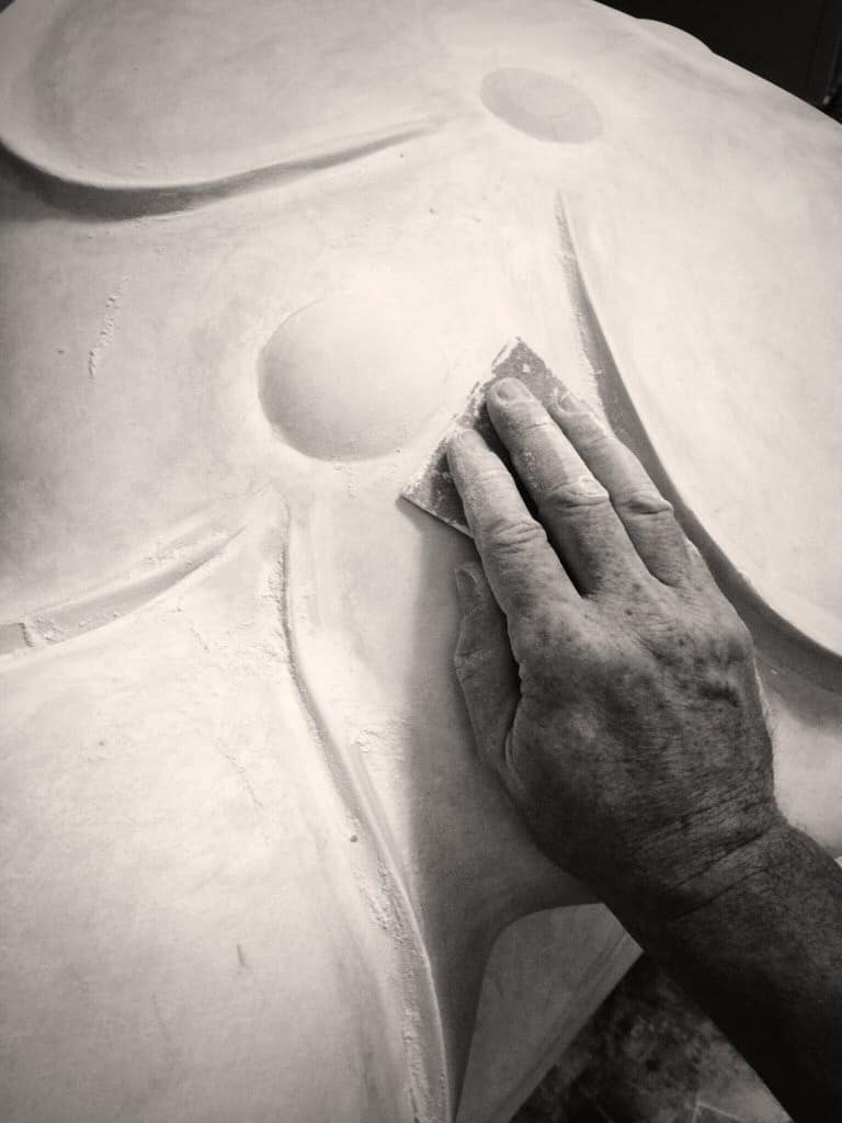 St. Jude Sculpture - WIP by A.D. Cook, Artist, Las Vegas. NV