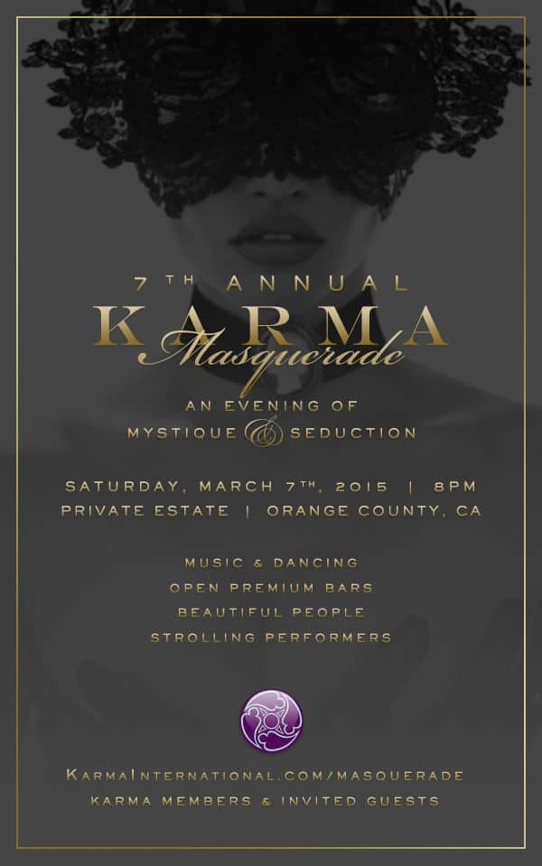 7th Annual Karma Masquerade Party 2015