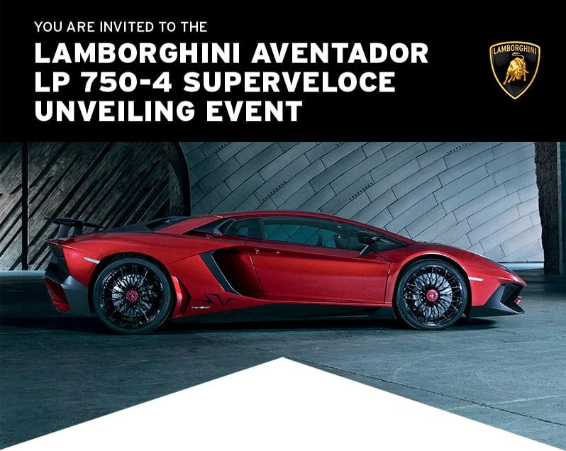 Lamborghini Aventador LP 750-4 SV Unveiling Event, Las Vegas, NV