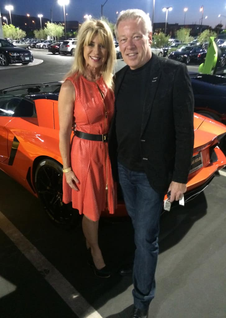 Lamborghini Aventador SV - Beti Kristof and A.D. Cook at Lamborghin Las Vegas unveiling