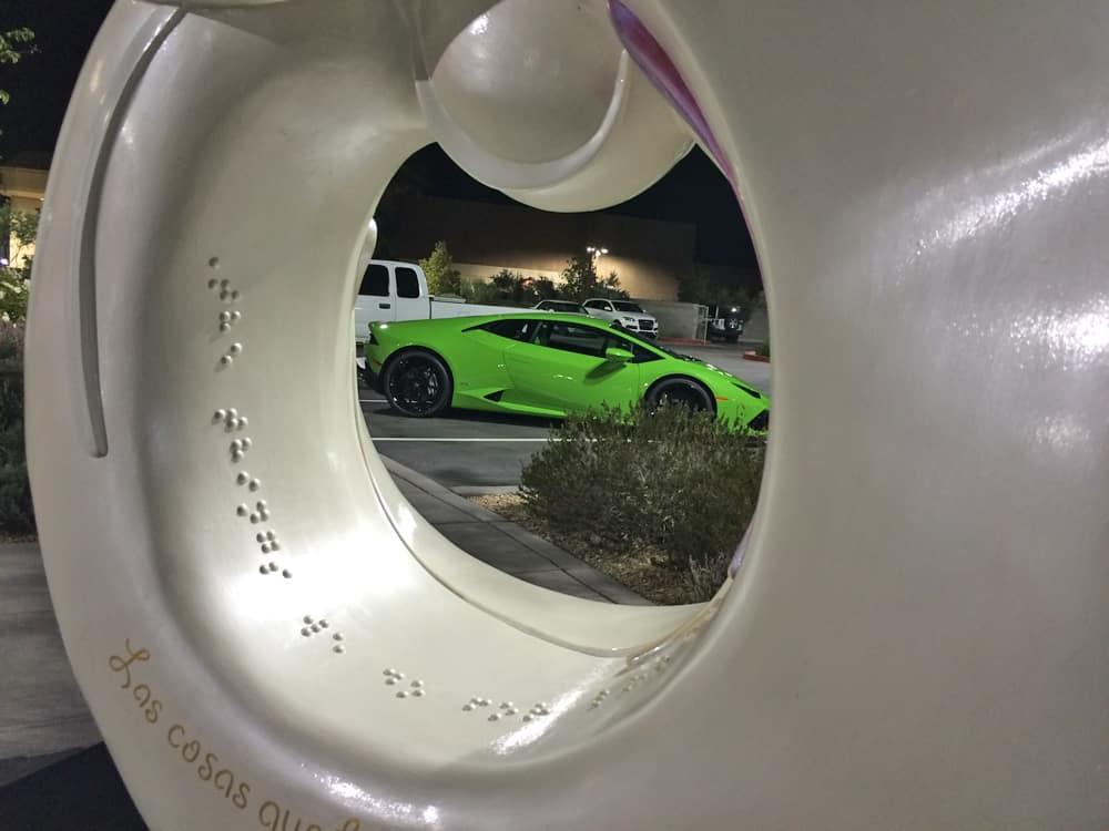 Lamborghini Huracan - St Jude Sculpture at Lamborghini Las Vegas