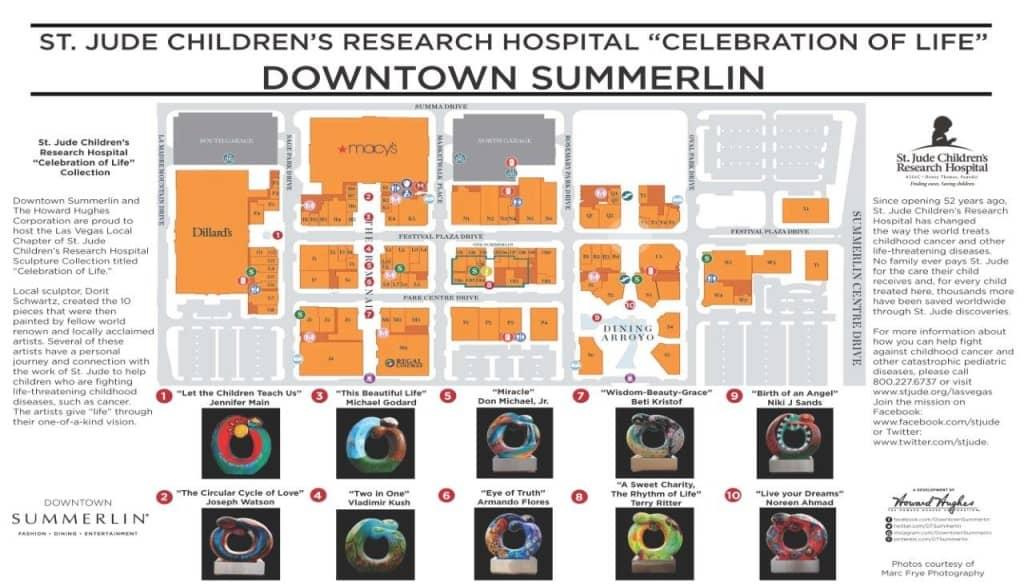 St Jude Sculpture Map - Downtown Summerlin, Las Vegas, NV
