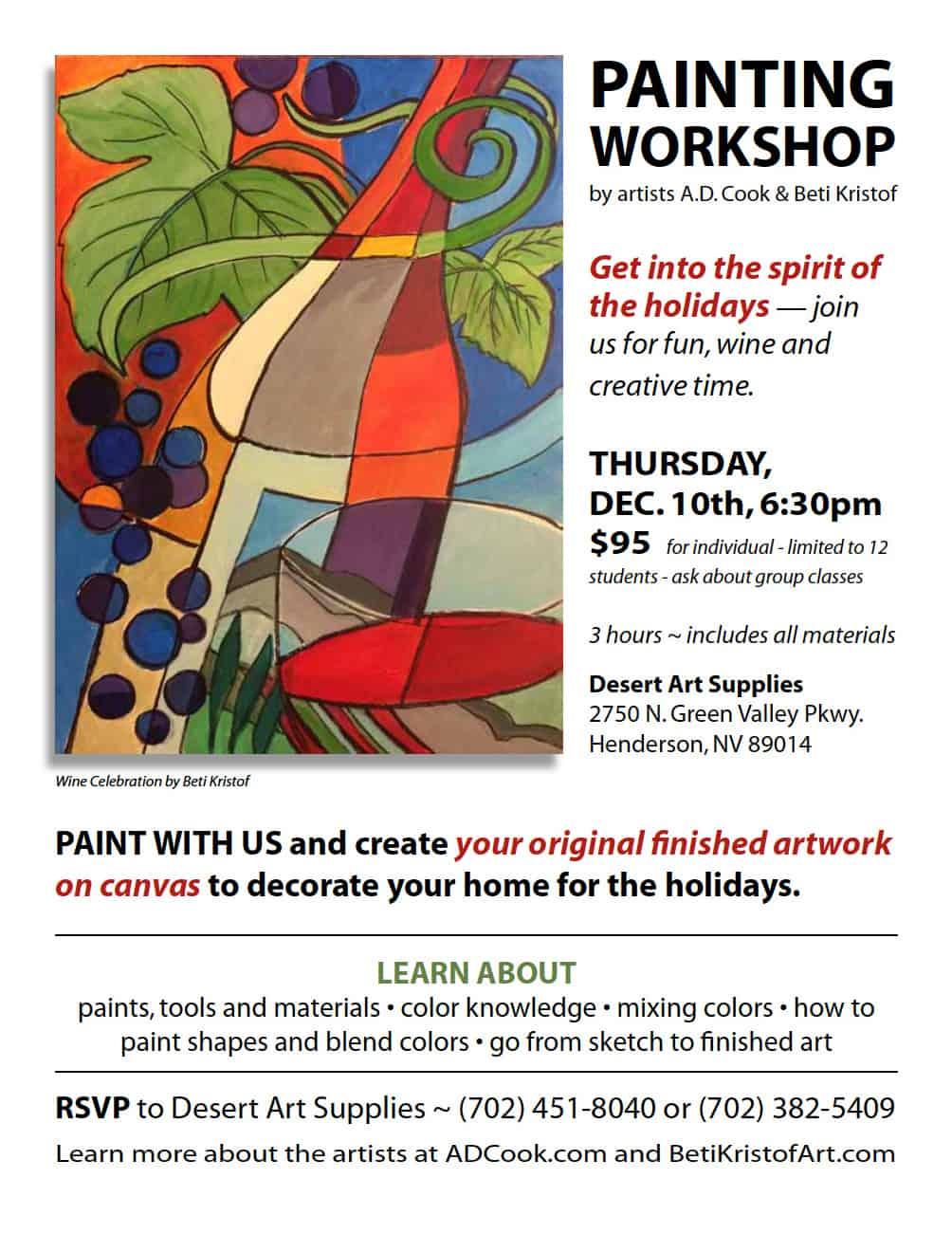 Painting Workshop Flyer