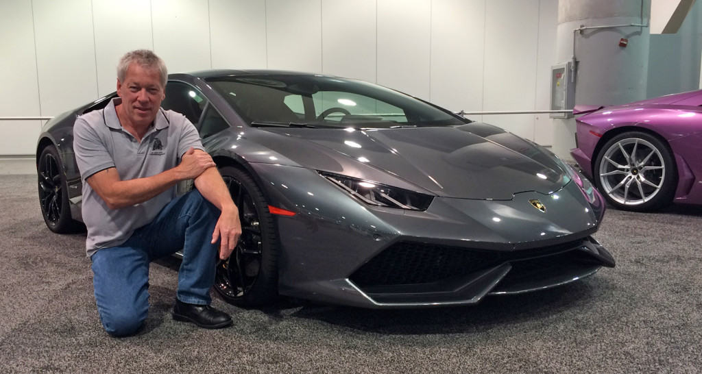 Motor Trend Auto Show - A.D. Cook with Lamborghini Huracan, Las Vegas, NV 2015
