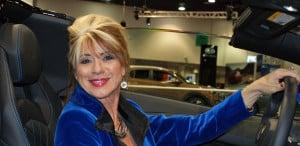 Motor Trend Auto Show - Beti in Blue Lamborghini LP-700 Aventador, Las Vegas, NV