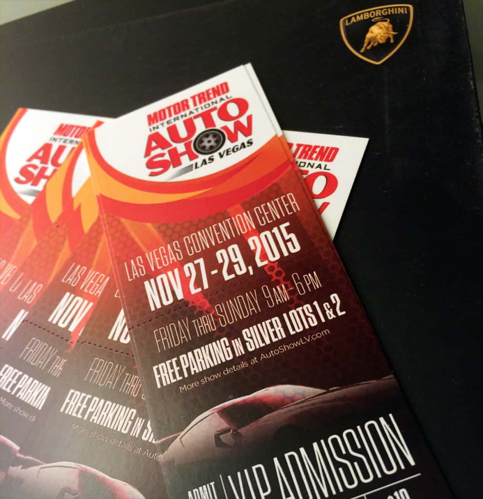 Motor Trend VIP Admission 2015, Courtesy of Lamborghini Las Vegas