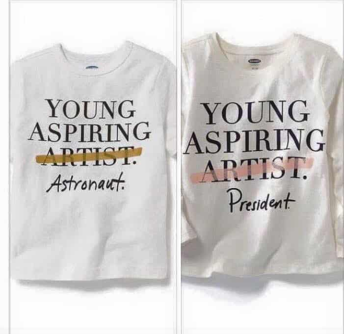 Old Navy - Young Aspiring Arists, not...
