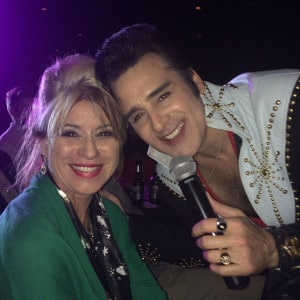 Steve Connolly as Elvis and Beti Kristof, Las Vegas, NV -122415