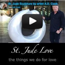 Artist A.D. Cook and St. Jude Sculpture