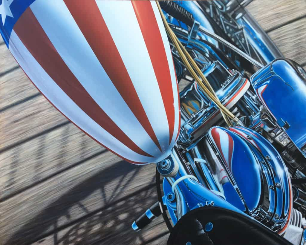 America ~ motorcycle art by A.D. Cook