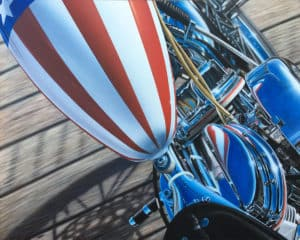 America motorcycle art by A.D. Cook (detail shot)