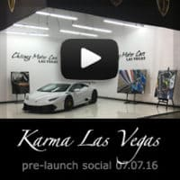 Karma Las Vegas Pre-Launch Social featuring A.d. Cook motorcycle art