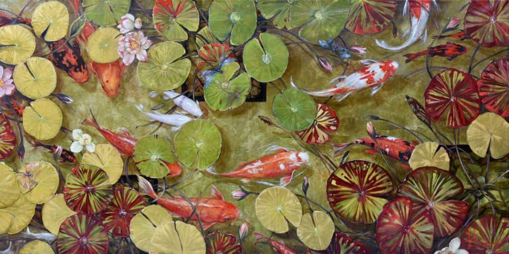 Zen Pond by Beti Kristof