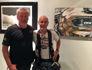 Motorcycle Artist A.D. Cook and Photographer Michael Lichter