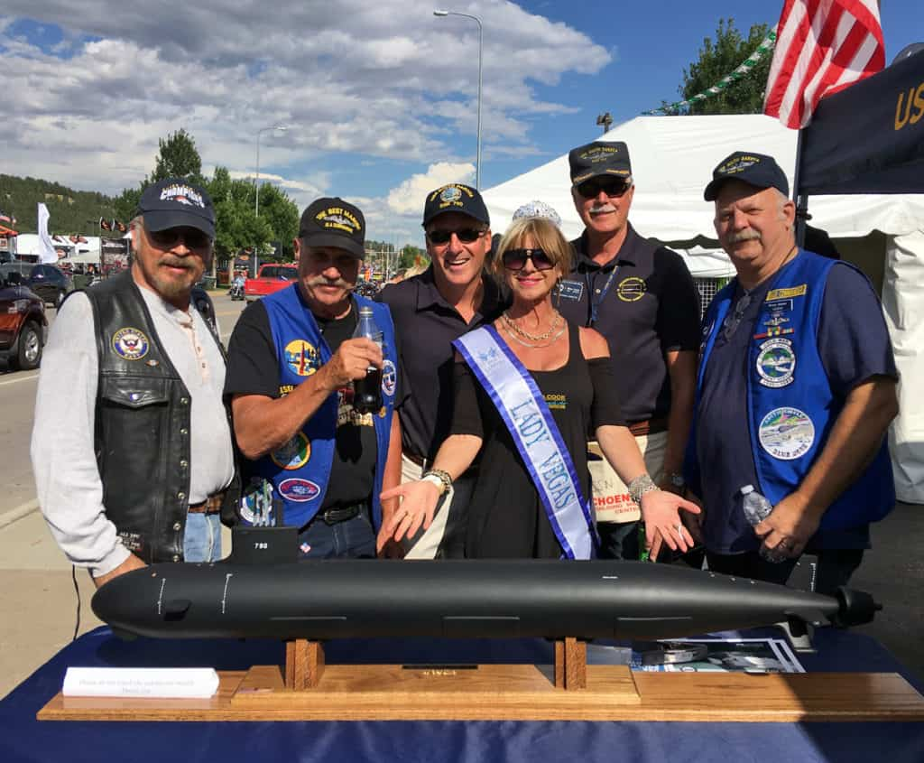 Sturgis 2016 - Beti Kristof and USS South Dakota