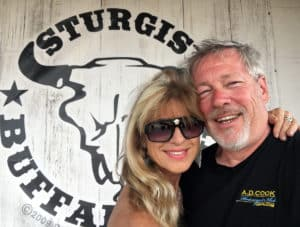 Artists A.D. Cook & Beti Kristof at Sturgis Buffalo Chip 2016