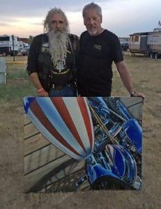 Artist A.D. Cook and Senator Dave Zien