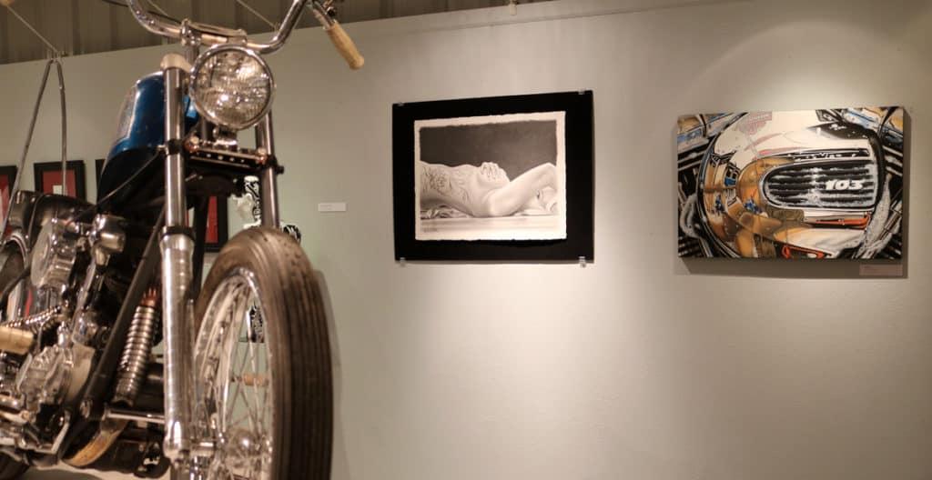 Motorcycle Artist A.D. Cook at Skin & Bones, Sturgis Buffalo Chip