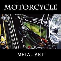 Motorcycle Art Metal Prints