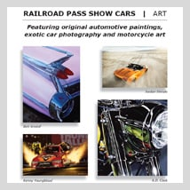 A.D. Cook Fine Art at RailRoad Pass Show Cars