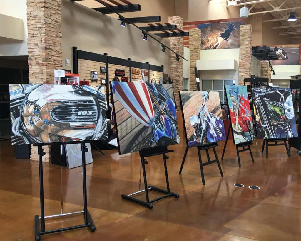 A.D. Cook motorcycel art at Red Rock Harley-Davidson, Las Vegas, NV