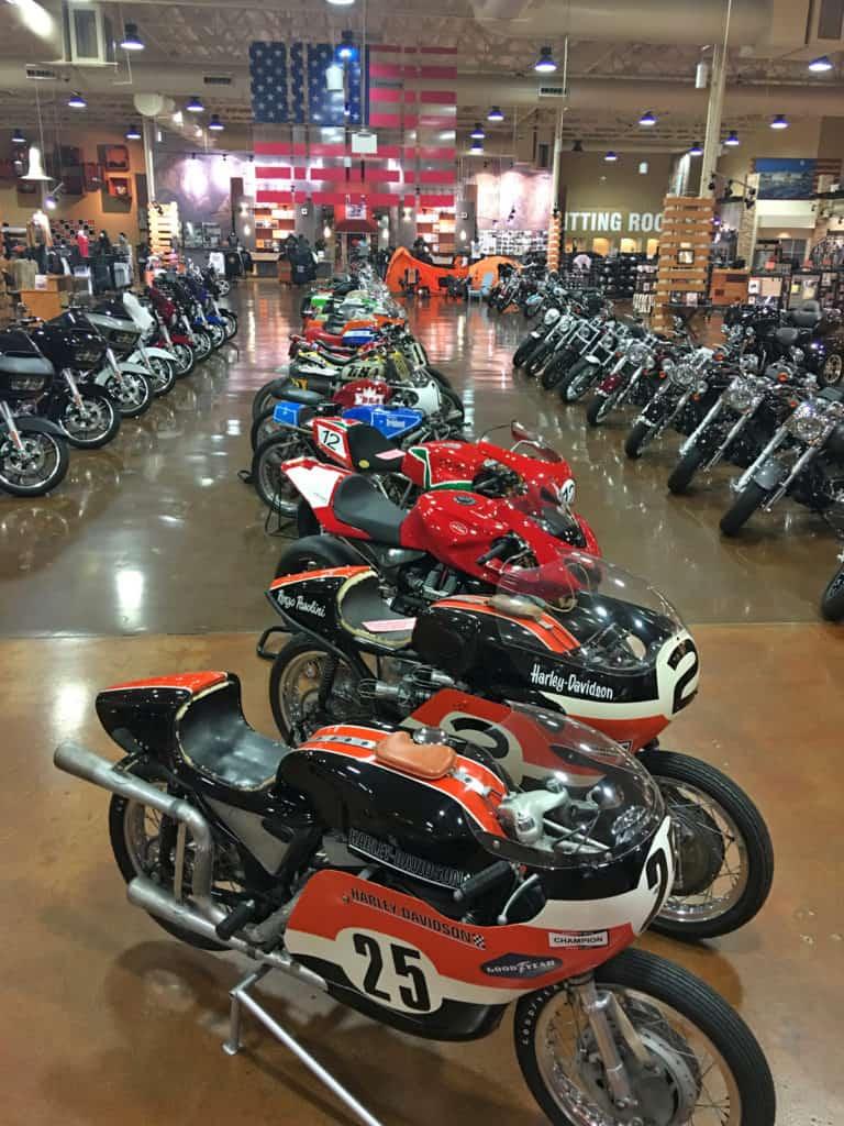 Harley-Davidson Race Bikes at Red Rock Harley-Davidson, Las Vegas
