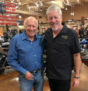 Peter Starr and A.D. Cook at Red Rock Harley-Davidson 2016