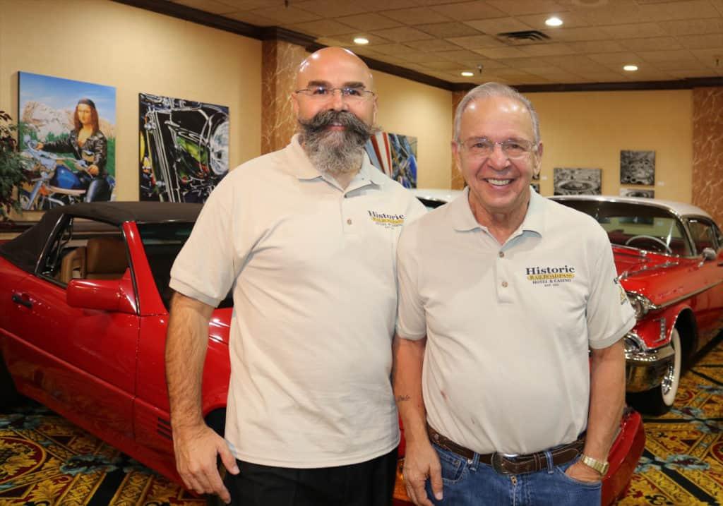 Bill Biler and joe, Sr at RailRoad Pass Show Cars