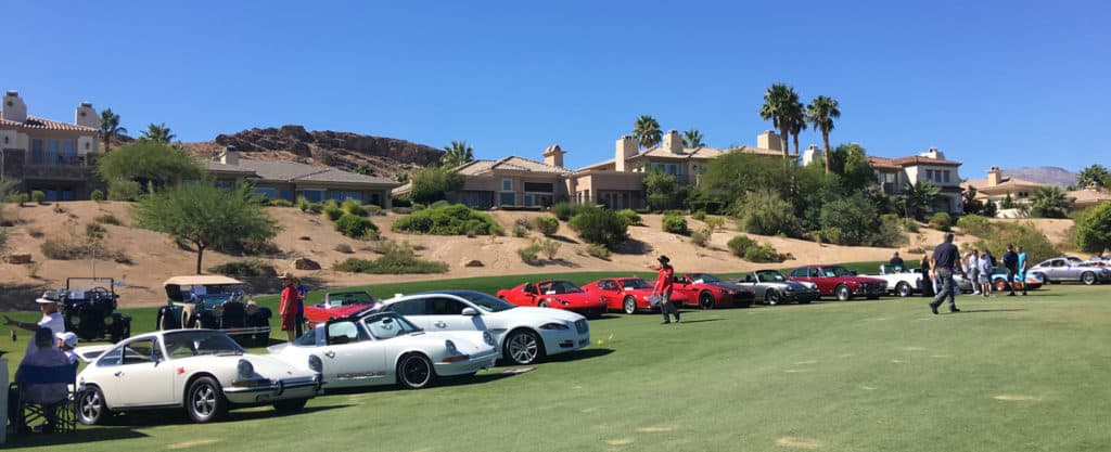 Porsches at Red Rock Country Club, Las Vegas
