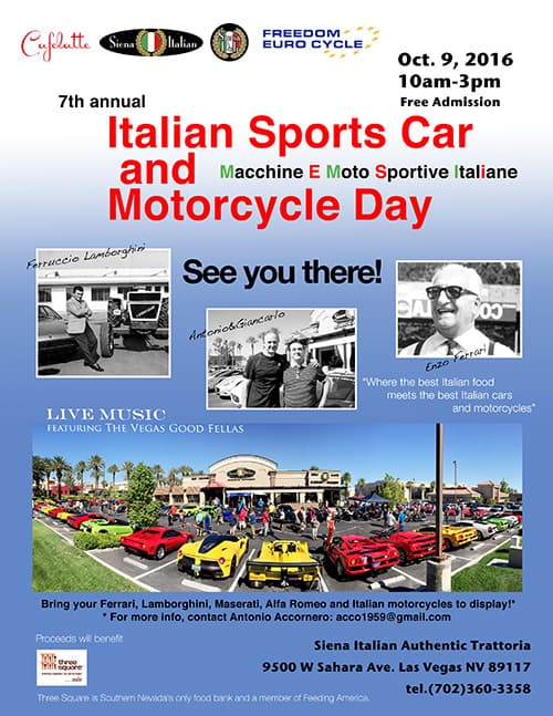 italian Sportsc Car and Motorcycle Day 2016, Las Vegas