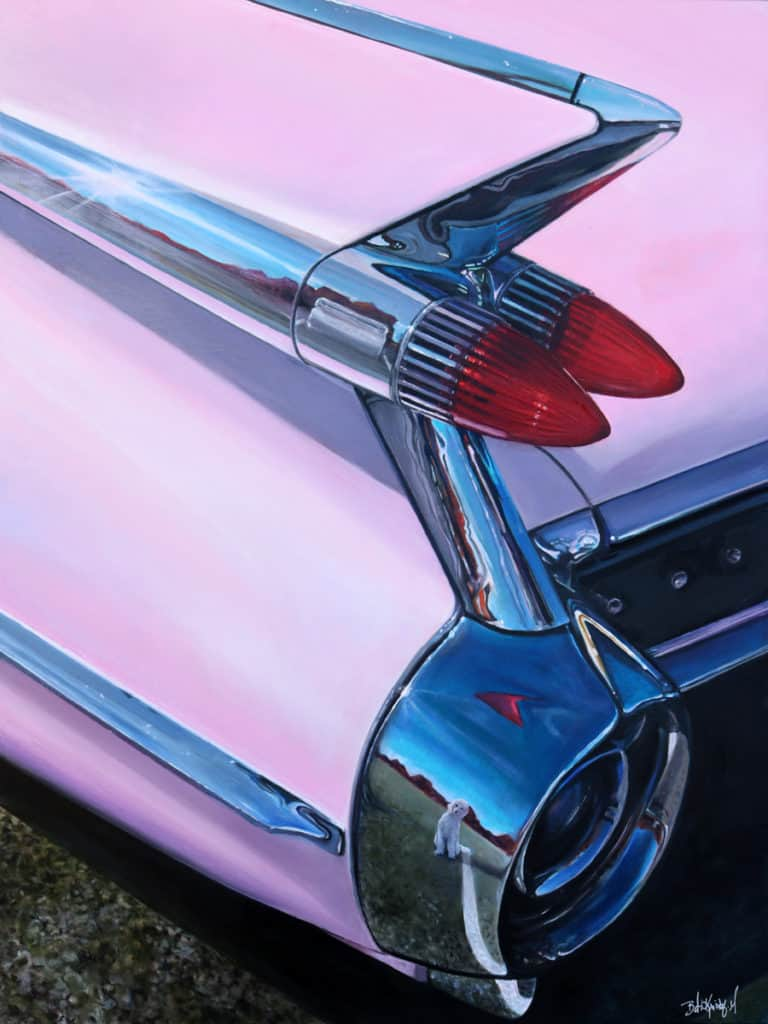 Pink Cadillac by Beti Kristof