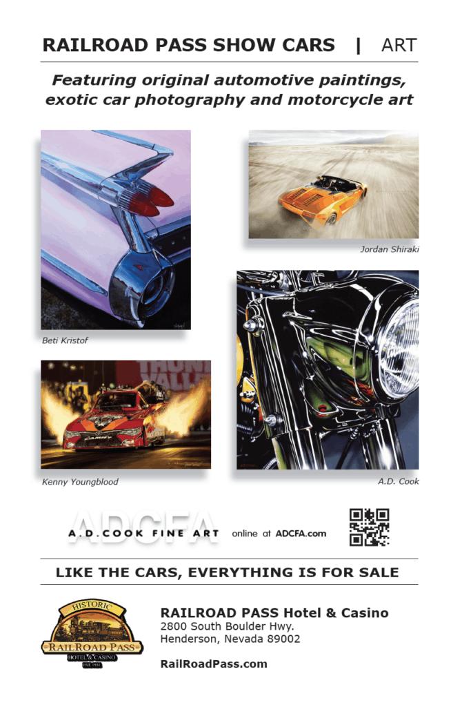 A.D. Cook Art at RailRoad Pass Show Cars