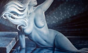 ASCENDANT art nude on canvas by A.D. Cook