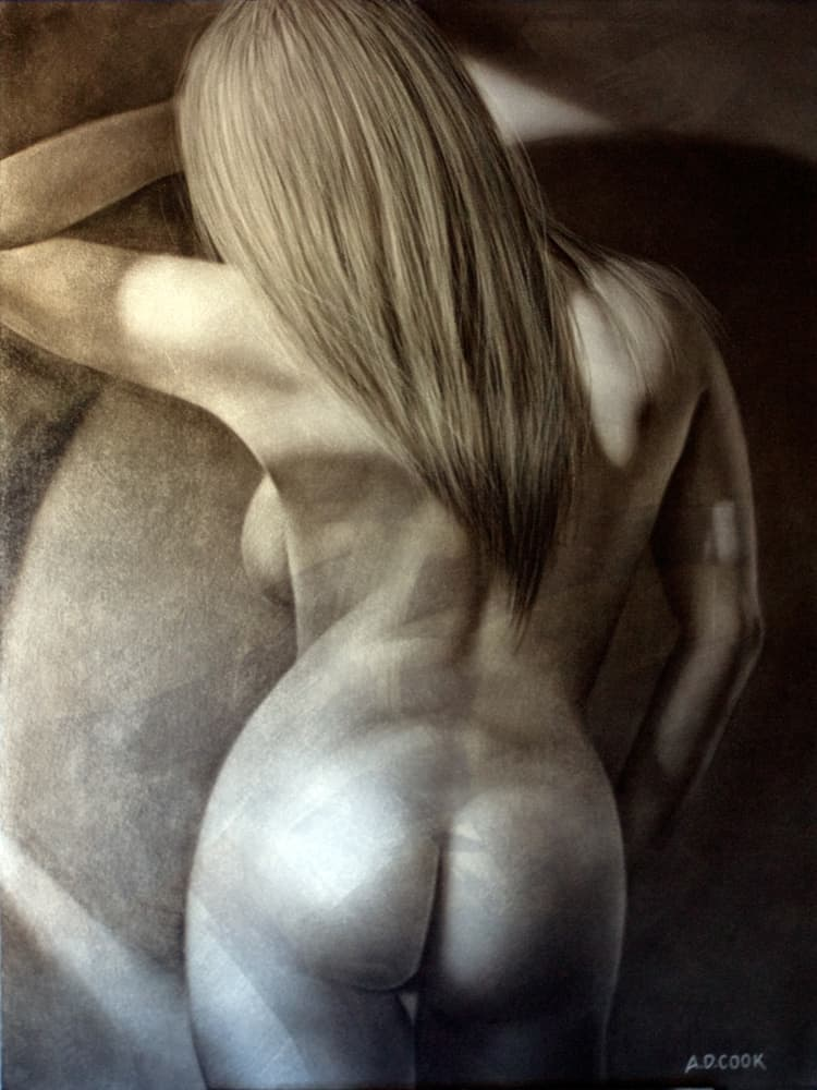 AVALON art nude painting by A.D. Cook