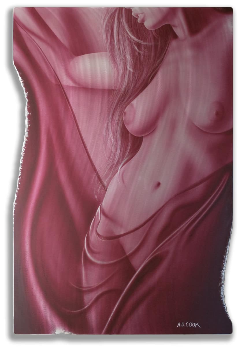 BEAUJOLAIS art nude on metal by A.D. Cook
