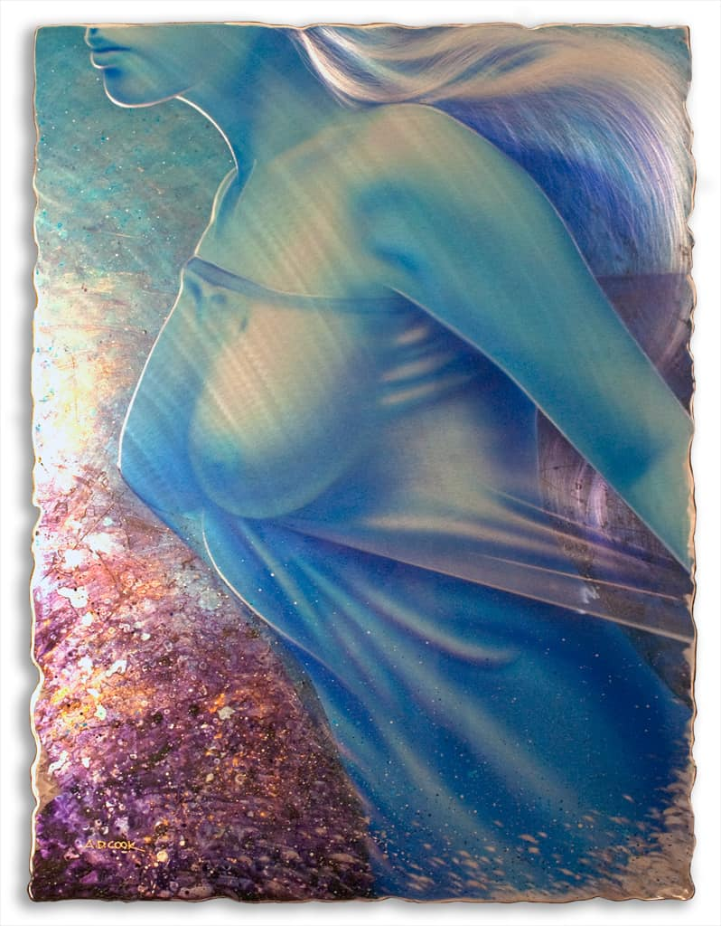 BROOKLYN art nude painting on metal by A.D. Cook